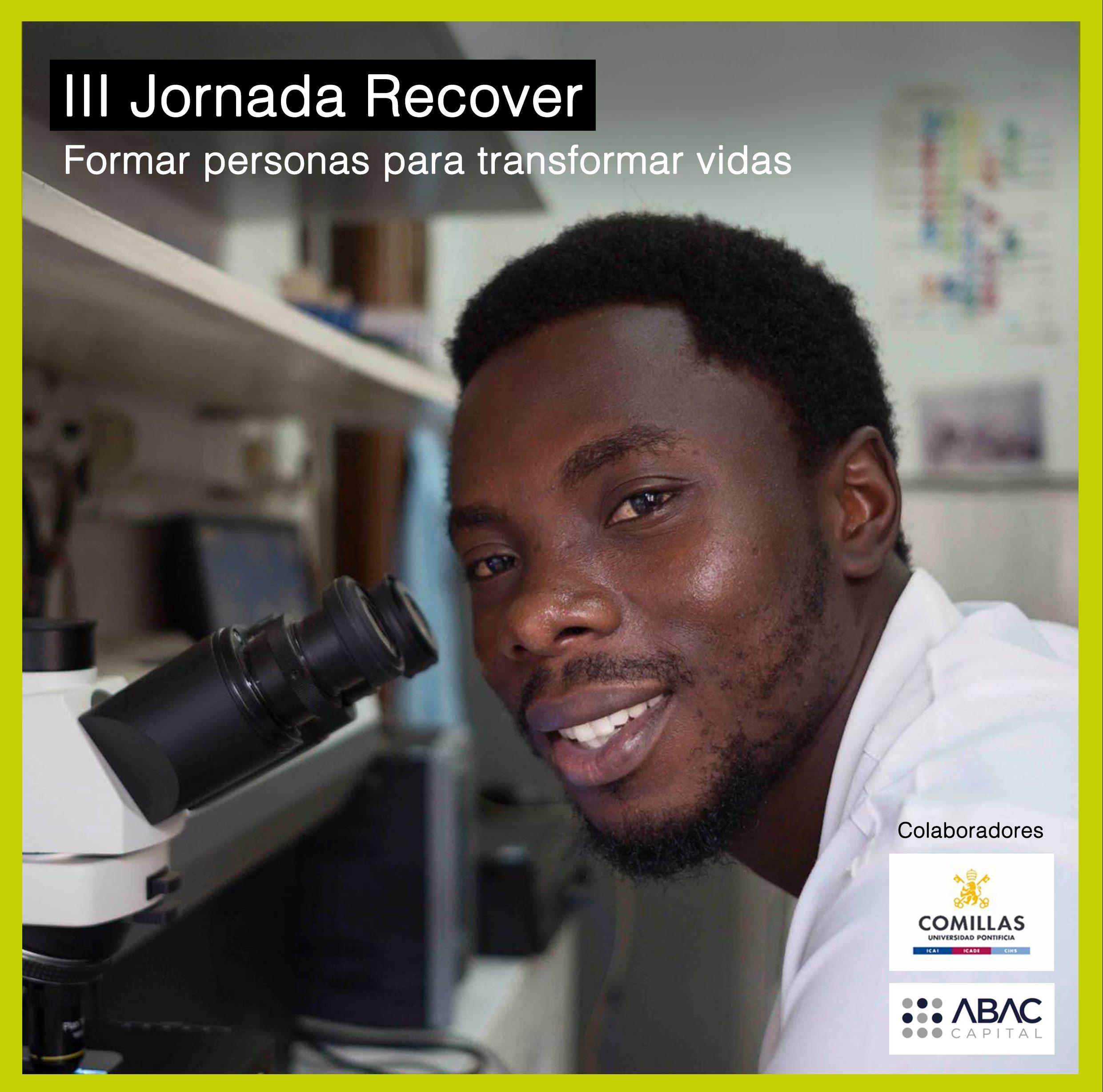 Cartel III Jornada Recover: Formar personas para transformar vidas
