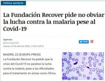 Día Mundial del Paludismo – diversos medios