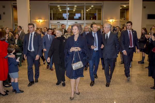 La Reina Sofía a la llegada del concierto.