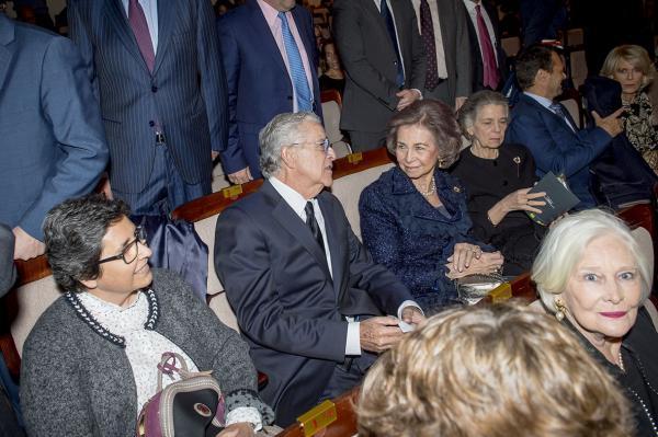 La Reina Sofía durante el concierto.